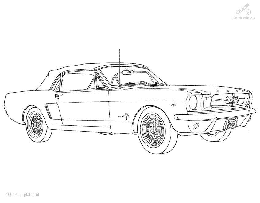 Ford Mustang Coloring Page