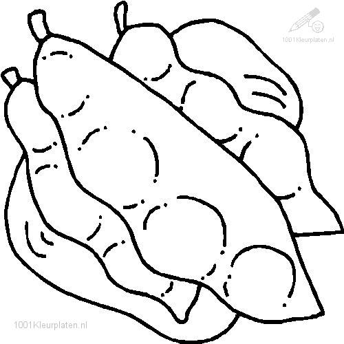 Coloringpage: green-beans-coloring-page