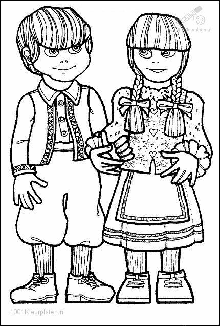 hansel si gretel coloring pages - photo#3
