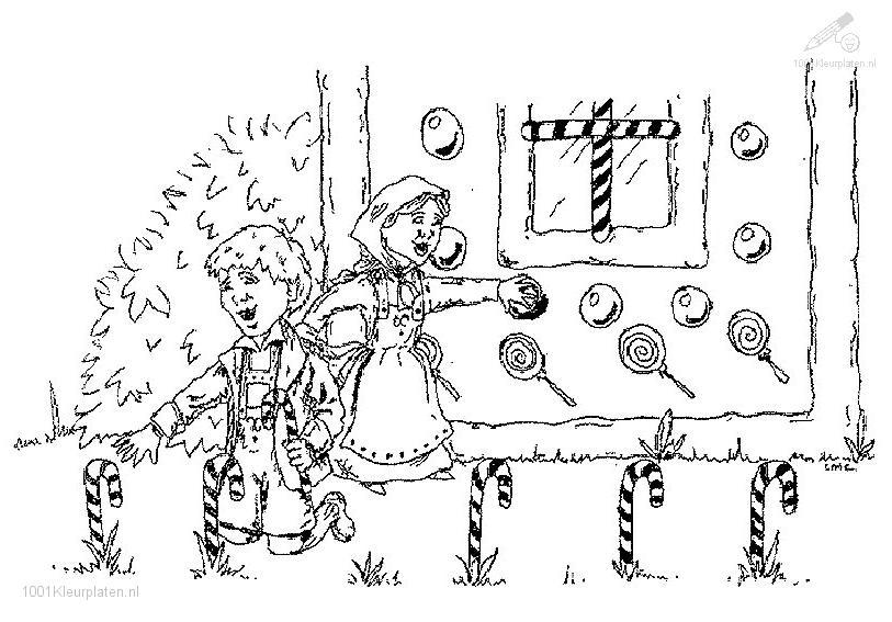 Hansel and Gretel Coloring Page