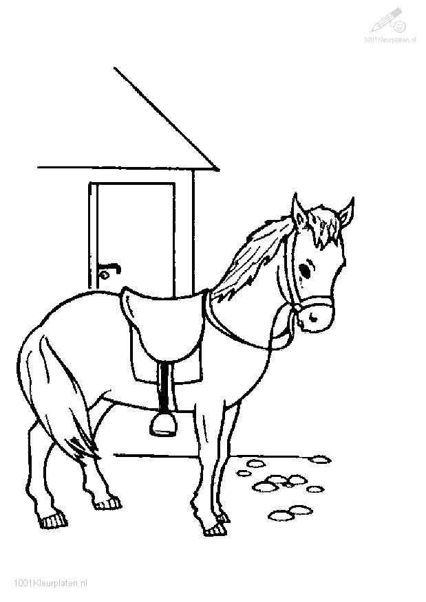 holiday horse coloring pages - photo#24