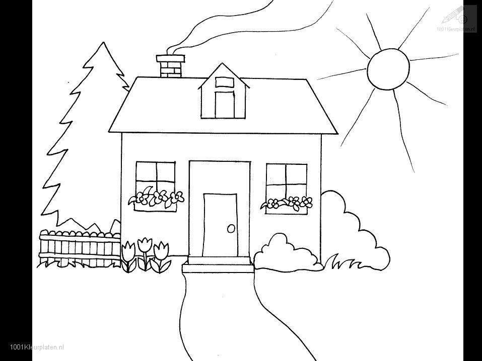 House Coloring Page Coloring Pages Houses
