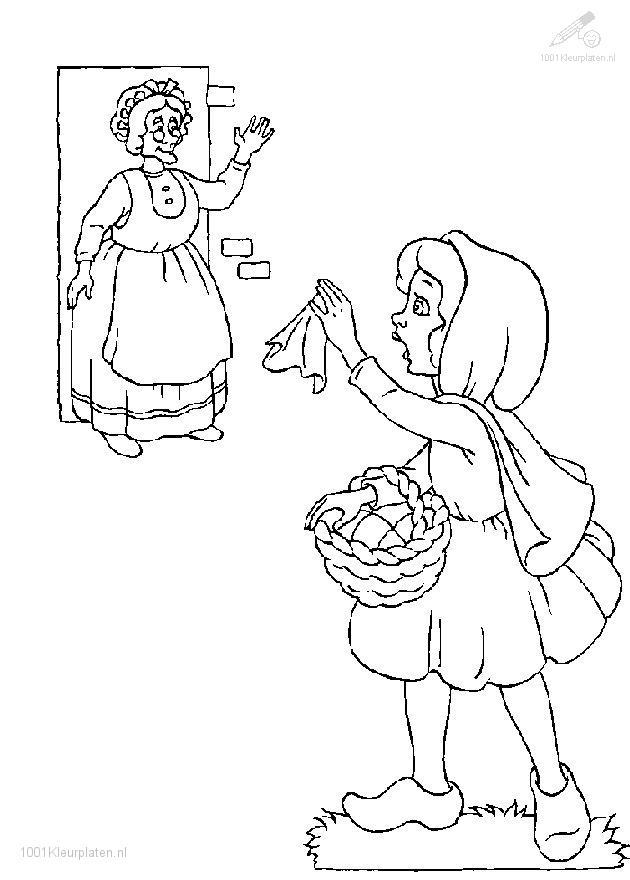 Little Red Cape Coloring Page