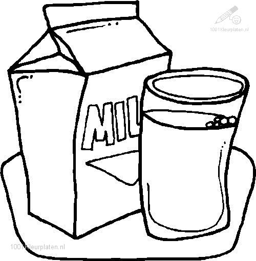 Food and Drinks >> Food >> Milk Coloring Page