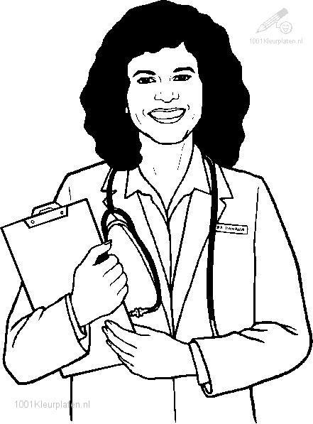 nurse coloring page