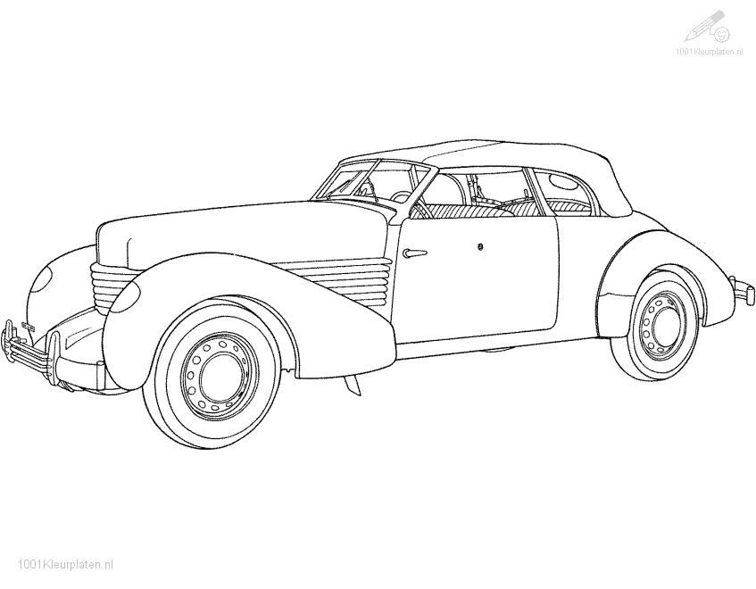 Coloringpage: oldtimer-coloring-page-1