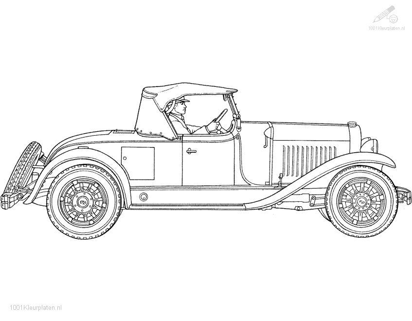 Oldtimer Coloring Page
