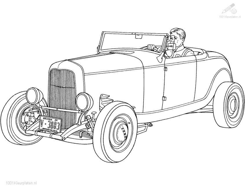 pin old car coloring - photo #11