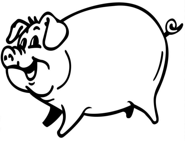free coloring pages of pigs - photo#11