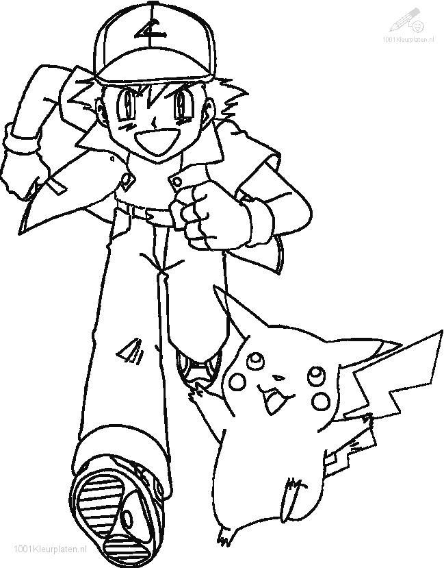 Ash x y coloring pages coloring pages for Full size pokemon coloring pages