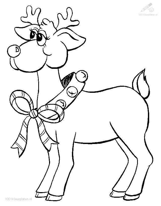 Rudolph The Red-Nosed Reindeer Coloring Page