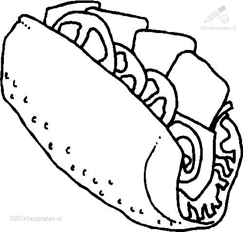 coloring pages images sandwiches - photo#10