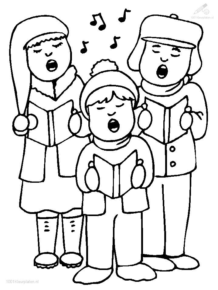 Kinds Singing Christmas Chorus