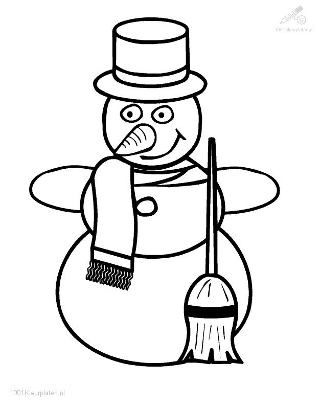 Frosty Snowman Coloring Page