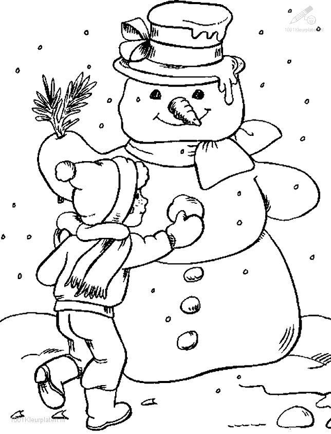 Season gt gt winter gt gt snowman coloring page