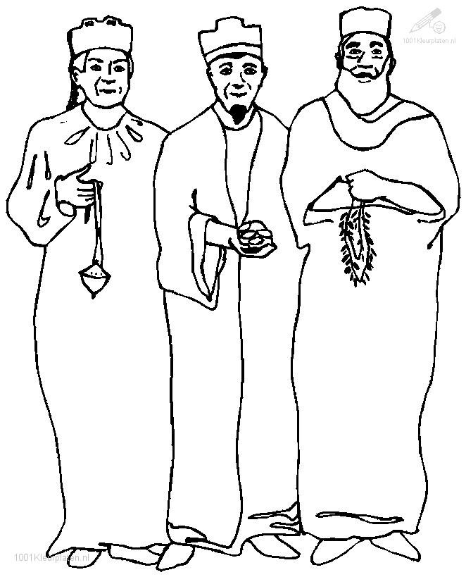 1001 COLORINGPAGES : Christmas >> Kings >> Three Wise Men Coloring Page