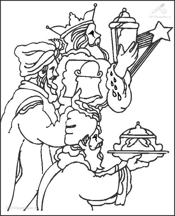 1001 Coloringpages Christmas Kings Three Wise Men Coloring Page