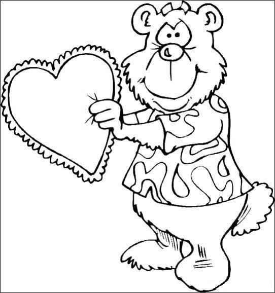 Valentinensday Coloring Page