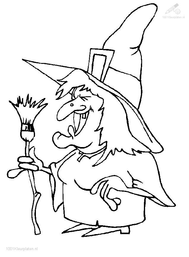 Coloringpage: witch-coloring-page-2