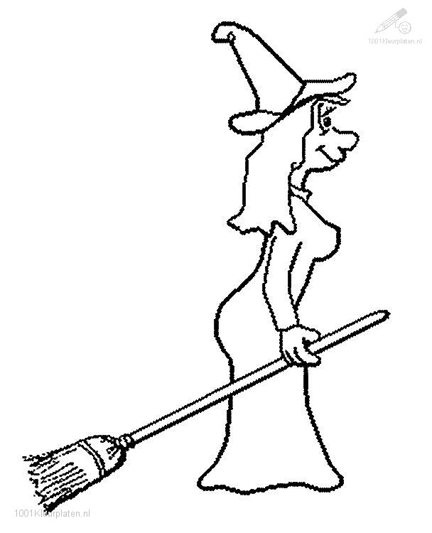 Coloringpage: witch-coloring-page-6