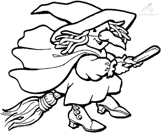 witch coloring page - Witch Coloring Page
