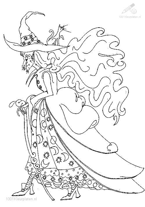 Coloringpage: witch-coloring-page-8