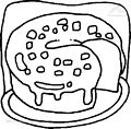 Cake Coloring Page >> Color your Cake