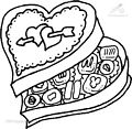 Chocolates Coloring Page>> Chocolates Coloring Page