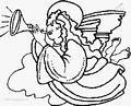 Christmas angel coloring page >> Christmas angel coloring page