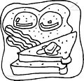 Toast Coloring Page >> Toast Coloring Page