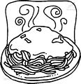 Coloring Page Noodles