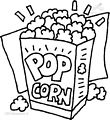 Coloring page Popcorn