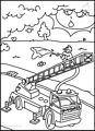 Fire Department Coloring Page