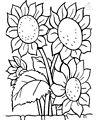 Flowers Coloring Page >> Flowers Coloring Page