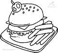 Hamburger Coloring Page>> Hamburger Coloring Page