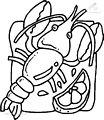 Lobster Coloring Page >> Lobster Coloring Page