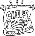 Potato Chips Coloring Page >> Potato Chips Coloring Page