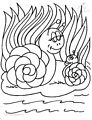 Snail Coloring Page >> Snail Coloring Page
