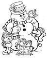 Snowman Coloring Page>> Snowman Coloring Page