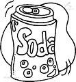 Soda coloring page
