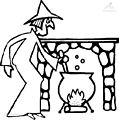 Witch Coloring Page >> Witch Coloring Page