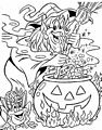 Witch Coloring Page>> Witch Coloring Page